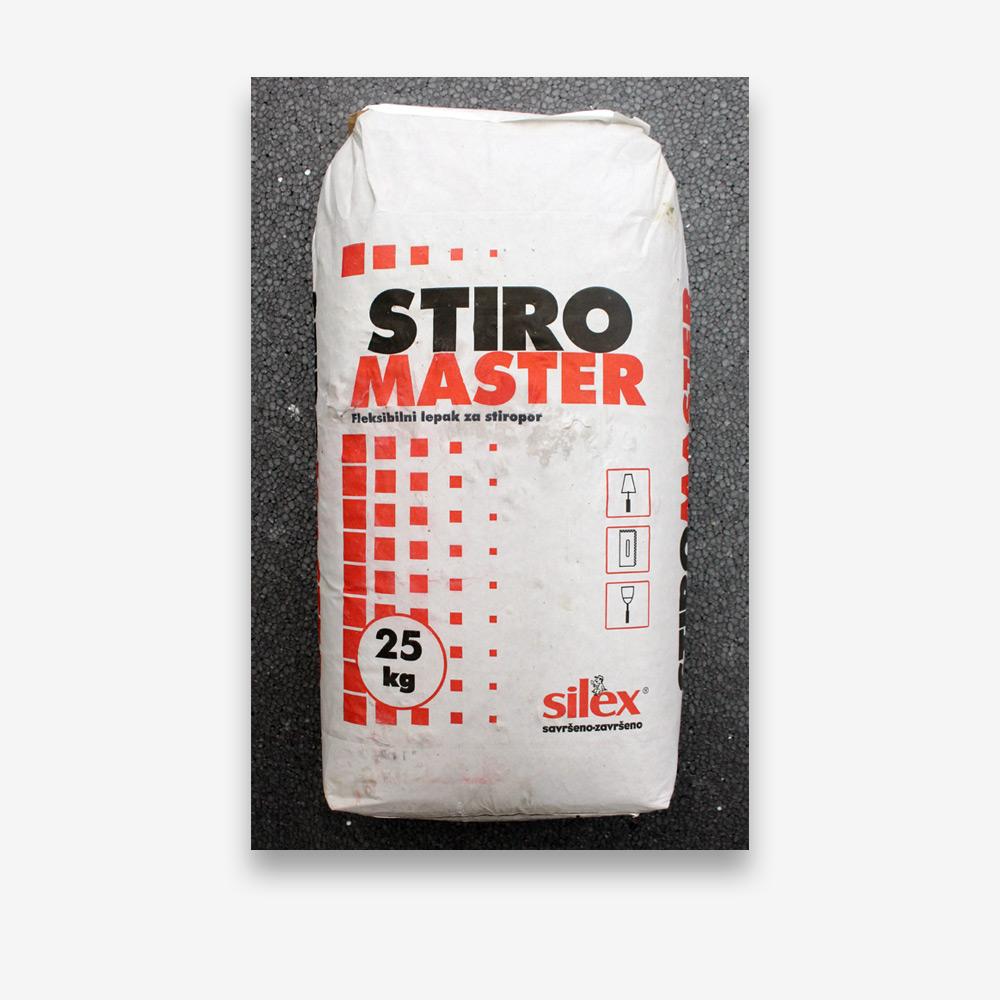STIROMASTER 25/1 univerzalno fleksibilno ljepilo za lijepljenje i gletanje stiropora